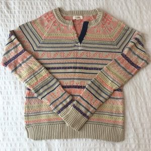 Anthropologie Ski Lodge Sweater